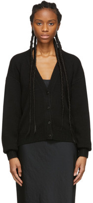 Alexander Wang Black Zip Cardigan