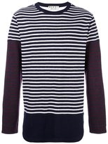 Marni patchwork stripe jumper - men - Virgin Wool - 46