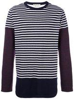 Marni patchwork stripe jumper