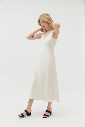 Line & Dot Loulou Satin Slip Dress