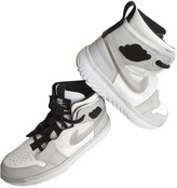 Jordan Air 1 White Leather Trainers