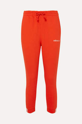 adidas Coeeze Organic Cotton-blend Jersey Track Pants - Red