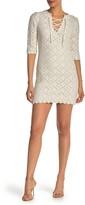 Rebecca Taylor Diamond Pointelle Sweater Dress