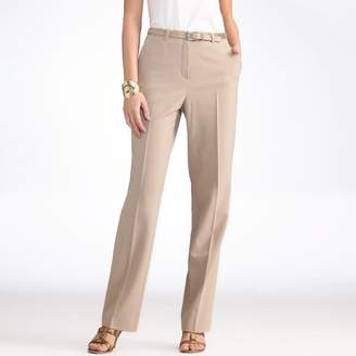 "Anne Weyburn Wool Blend Straight Trousers, Length 30.5"""