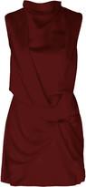 Acler Jasper Draped Sateen Mini Dress