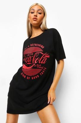 boohoo Tall Coca Cola License T-shirt Dress
