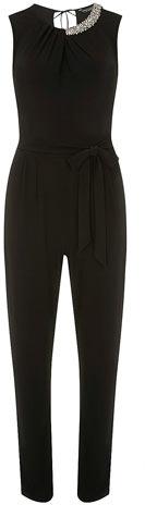 Dorothy Perkins Black embellished jumpsuit