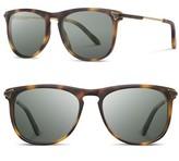Shwood Women's Keller 53Mm Polarized Sunglasses - Matte Brindle/ G15 Polar