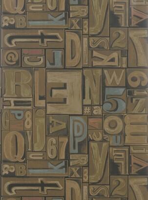 Ralph Lauren Copeley Letterpress Wallpaper