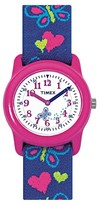 Timex Kid's Watch with Butterflies and Hearts Strap - Pink/Blue T89001XY