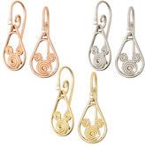Disney Mickey Mouse 14K Gold Swirl Earrings