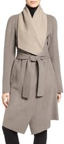 Diane von Furstenberg Women's Reversible Double Face Wrap Coat