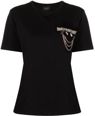 Liu Jo applique-detailed cotton T-shirt