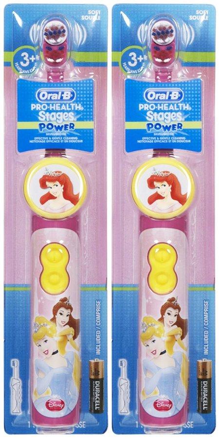 Oral-B Stages 3 Power Toothbrush - Disney Princess - 2 pk