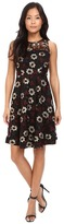 Donna Morgan D4864M Floral Embroidered A-line Dress