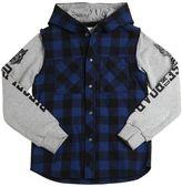 Diesel Cotton Flannel & Sweatshirt Jacket
