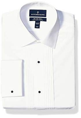 Buttoned Down Slim Fit Easy Care Bib-front Spread-collar Tuxedo Shirt