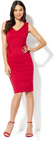 New York & Co. Lace-Up Accent Sheath Dress