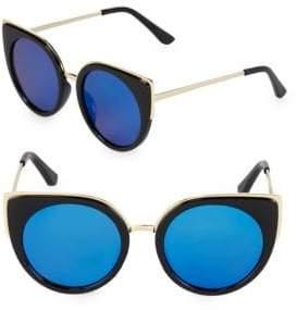 Fantas-Eyes Mirrored 51MM Cat Eye Sunglasses