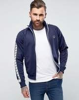 Fred Perry Sports Authentic Taped Track Jacket in Navy