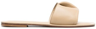 Elleme Square-Toe Leather Slides
