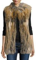 Diane von Furstenberg Multicolored Fox Fur Vest, Natural