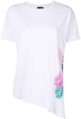 EA7 Emporio Armani asymmetric graphic print T-shirt