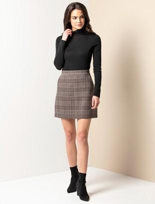 Ever New Bailey A-line Check Mini Skirt
