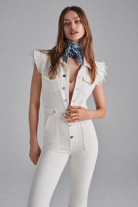 Joe's Jeans The Silvia Slim Denim Jumpsuit By in White Size S