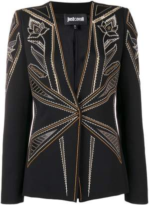 Just Cavalli micro stud-embellished blazer