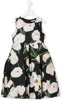 Dolce & Gabbana tulip print dress - kids - Silk/Polyamide/Polyester - 6 yrs