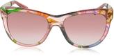 Gucci GG 3739/S Flora Silk Cat Eye Sunglasses
