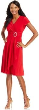 R & M Richards Petite Belted Dress