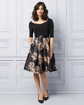 Le Château Floral Off-The-Shoulder Fit & Flare Cocktail Dress