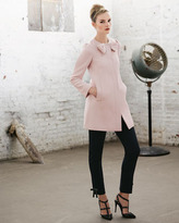 RED Valentino Bow-Neck Covered-Button Jacket, Pale Rose