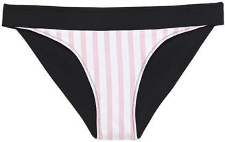 Heidi Klein Reversible Striped Mid-rise Bikini Briefs