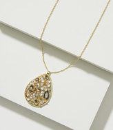 LOFT Mixed Crystal Teardrop Pendant Necklace
