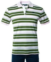 Givenchy Men's Pink Striped 100% Cotton Polo Shirt.