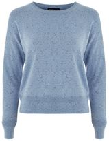 Topshop Neppy drop shoulder crew neck jumper