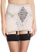 Rago Women's Extra Firm Shaping Open Bottom Fashion Girdle, Pink/Black, Small