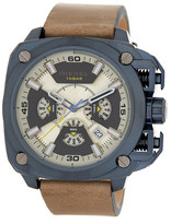 Diesel Men&s BAMF Leather Strap Watch