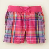 Children's Place Knit waistband plaid shorts - plus