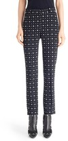 Givenchy Women's Print Straight Leg Stretch Cady Trousers