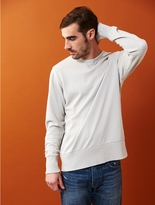 Alternative Commuter Weathered Wash Lightweight French Terry Crew Sweatshirt