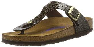 Birkenstock Unisex Adults' Gizeh T-Bar Sandals, Brown (Myda Espresso), 38 EU