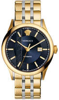 Versace 44mm Aiakos Men's Automatic Watch with Bracelet, Blue