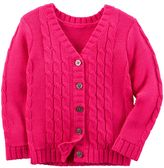 Carter's Girls 4-8 Cable Knit Cardigan