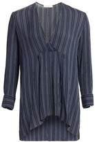 Halston Striped Long-Sleeve Top