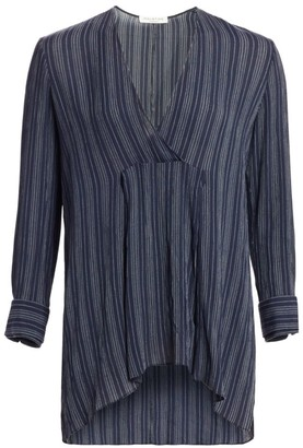 Halston Striped Long-Sleeve Top