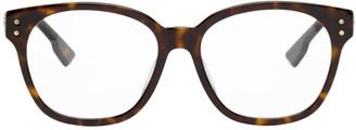 Christian Dior Brown Tortoiseshell DiorCD1F Glasses